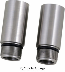 """Cycle Visions - Chrome Fork Tube Extensions - 39 mm Diameter - Extends +3"""""""