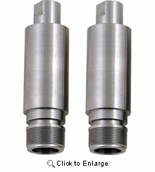 """Cycle Visions - Chrome Fork Tube Extensions - 41 mm Diameter - Extends +3"""""""