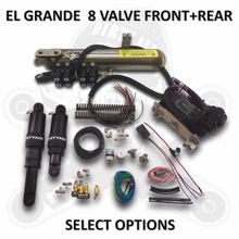 8-VALVE- EL GRANDE -DIRTY AIR -FRONT AND REAR COMPLETE FAST-UP TANK SYSTEM