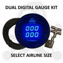 "Dirty Air GAUGE KIT - 2"" DUAL DIGITAL AIR PRESSURE GAUGE KIT"