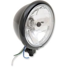 Drag 5-3/4in Springer Bottom Mount Headlight- Gloss Black