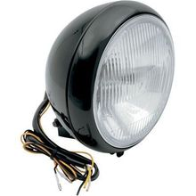Drag 7in Smooth Headlight- Black