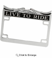 Drag-Live To Ride- License Plate Frame