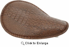 Drag Low-Profile Spring Solo- Brown Alligator w/ Brown Stitching