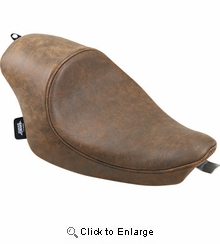 Drag Specialties - 3/4 Solo Seat - Brown - Leather