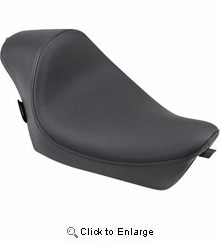 Drag Specialties - Cafe-Style Solo Seat - Smooth - XL '10+