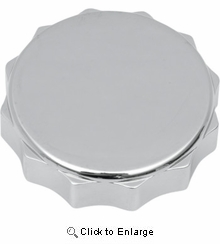 Drag Specialties - Deluxe Gas Cap - Without Vent - Twit-on