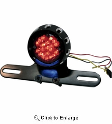 Drag Specialties - Taillight/License Plate Mount - Black