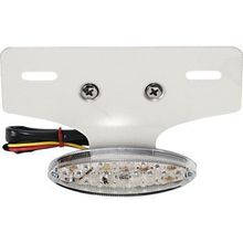 Drag Specialties - Taillight/License Plate Mount - Cat Eye -Clear Lens - Red LED
