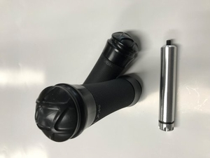 Eddie Trotta Thunder Cycle Designs Platinum Grips with Stash Tube