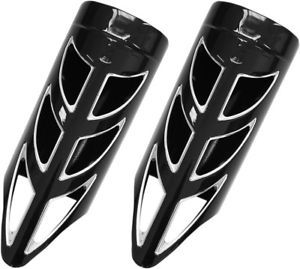 Elite Series Fork Slider Cover- Black w/ Remachined Accents