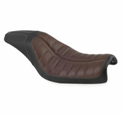 Roland Sands Design Enzo Seats 2-Up- Brown & Black