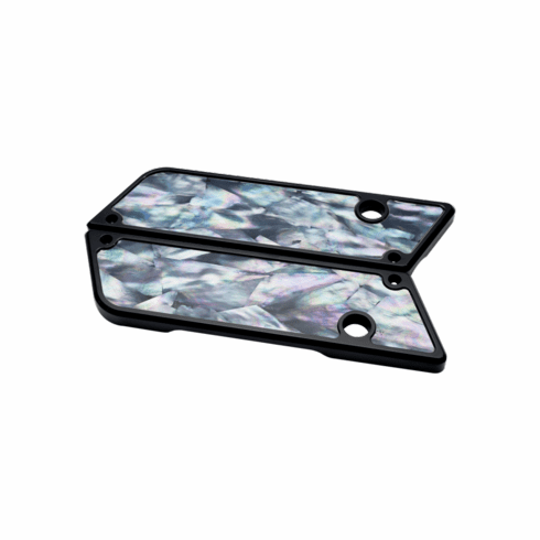 Exotic Mother of Pearl Latch Cover in Black
