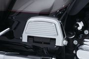 Finned Passenger Board Covers for H-D-Chrome