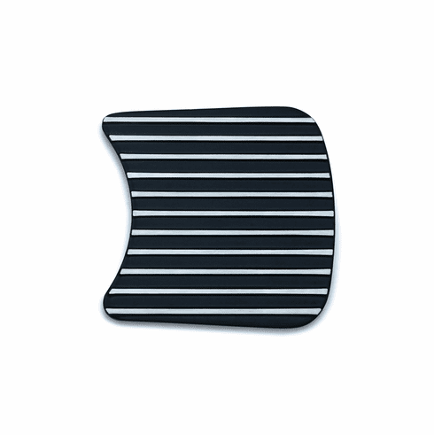 Finned Primary Inspection Cover Accent for Touring - Satin Black & Machined
