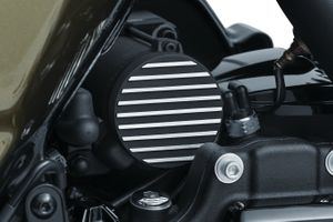 Kuryakyn Finned Starter End Accent- Satin Black & Machined