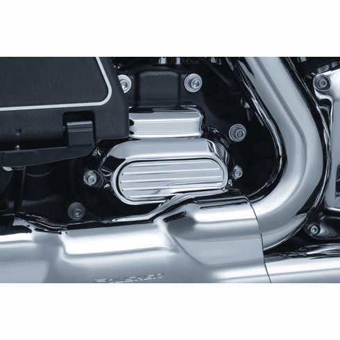 Finned Transmission Cover Accent for Twin Cam - Chrome