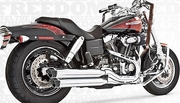 "Freedom Performance Exhaust 3-1/4"" Racing Slip-Ons"