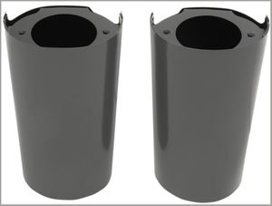 Gloss Black Smooth Slider Covers for 2014 - Present