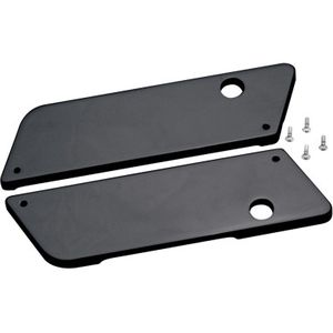 GLOSS BLACK SMOOTH SADDLEBAG LATCH COVERS