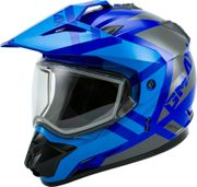 GMAX - GM-11S DUAL-SPORT TRAPPER SNOW HELMET BLUE/GREY