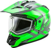 GMAX - GM-11S DUAL-SPORT TRAPPER SNOW HELMET GREY/NEON GREEN