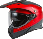 GMAX - AT-21Y ADVENTURE RALEY HELMET MATTE GREY/RED