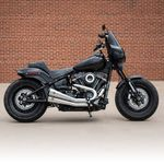 S&S Grand National® 2-2 Exhaust System, Chrome with Black End Caps for 2018 HD® Softail® Models