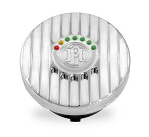 Grill LED Fuel Gauge Cap- Chrome