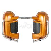HogWorkz Harley Lower Vented Fairings - Painted Amber Whiskey w/ Hardware Kit