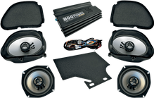 "Hogtunes 160 Watt 4-Channel Amp with 5 x 7"" Front & 5.25"" Rear Speaker Kit for Road Glide"