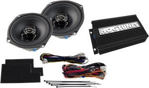 "Hogtunes 200 Watt 2-Channel Amp with 5.25"" Front Speaker Kit for Street Glides"