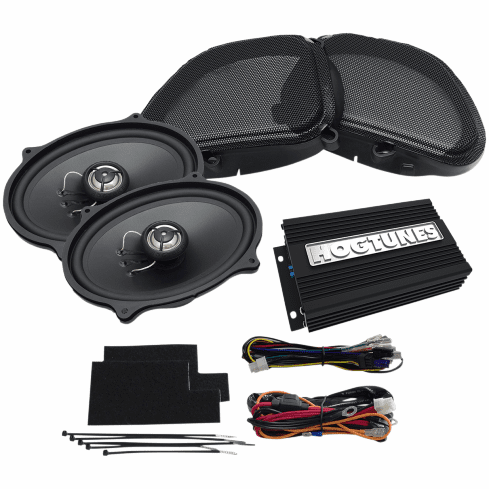 """Hogtunes 200 Watt 2-Channel Amp with 5 x 7"""" Front Speaker Kit for Road Glide"""