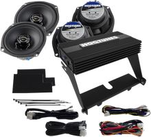 "Hogtunes 200 Watt 4-Channel Amp with 5.25"" Front & Rear Speaker Kit for Ultra Class/Limited"
