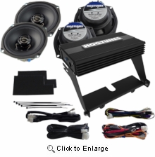 """Hogtunes 200 Watt 4-Channel Amp with 5.25"""" Front & Rear Speaker Kit for Ultra Class/Limited"""