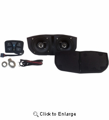 HogTunes Bluetooth Speaker Kit for MEMPHIS SHADES Batwing Fairing