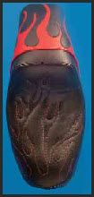 Invictor Gunfighter Saddle - Red Flame