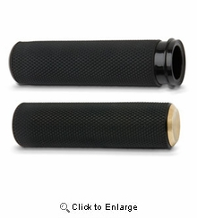 Knurled Fusion Grips - Brass