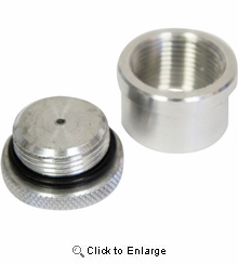 LA Choppers - Gas Cap with Weld-on Bung - Aluminum