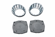 LED Speaker Bezels- Chrome