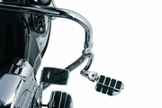 """Longhorn Offset Highway Pegs with Dually & 1-1/2"""" Magnum Quick Clamp - Chrome"""
