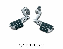 """Longhorn Offset Highway Pegs with Dually & 1"""" Magnum Quick Clamps - Chrome"""