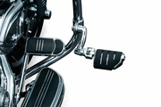 """Longhorn Offset Highway Pegs with Trident Dually & 1-1/4"""" Magnum Quick Clamp - Chrome"""