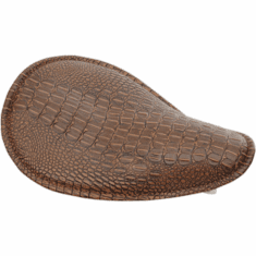 Low-Profile Spring Solo- Brown Alligator w/ Brown Stitching