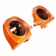 "Lower Vented Fairing 6.5"" Speaker Pods Amber Whiskey"