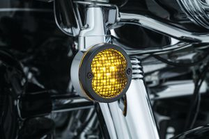 Mesh Bezels for H-D Flat Style Turn Signals- Satin Black