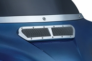 Mesh Fairing Vent Accent- Chrome