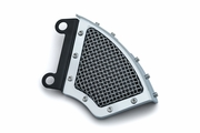 Mesh Front Caliper Cover-Chrome- Dyna & Softail