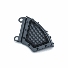 Mesh Front Caliper Cover- Satin Black- Dyna & Softail