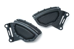 Mesh Front Caliper Covers-Satin Black- Touring